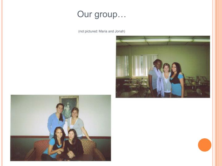 Our group…