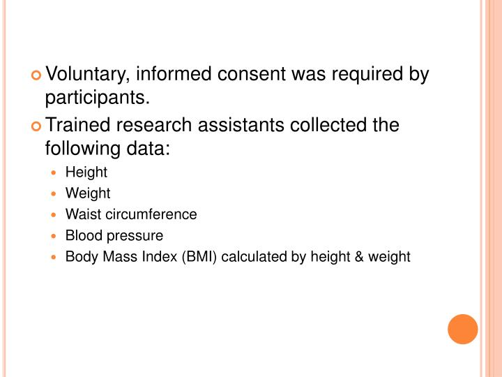 Voluntary, informed consent was required by participants.
