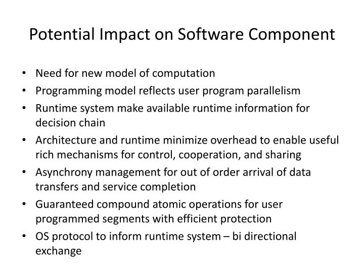 Potential Impact on Software Component