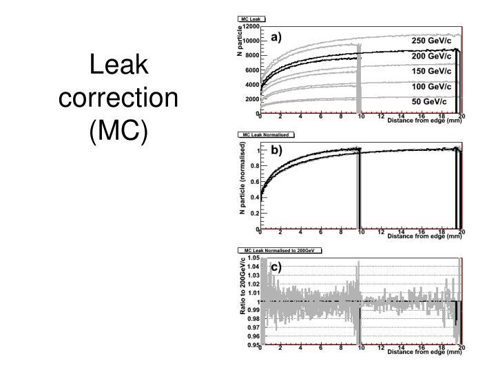 Leak correction (MC)