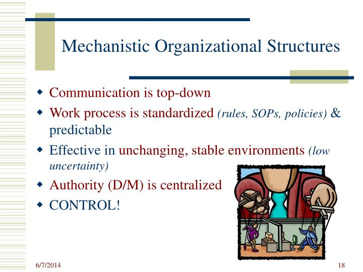 Mechanistic Organizational Structures