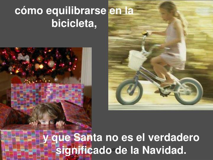 cómo equilibrarse en la bicicleta,