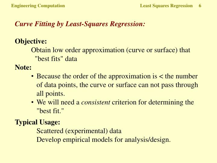 Engineering Computation  Least Squares Regression