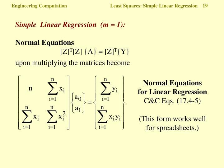 Engineering Computation  Least Squares: Simple Linear Regression