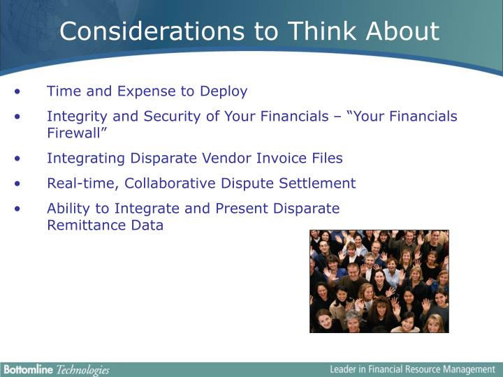 Considerations to Think About