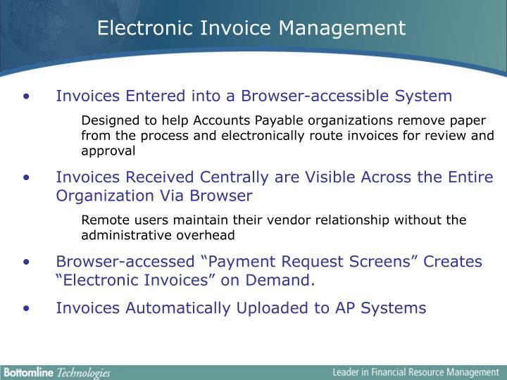 Electronic Invoice Management