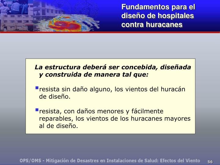 Fundamentos para el diseño de hospitales contra huracanes
