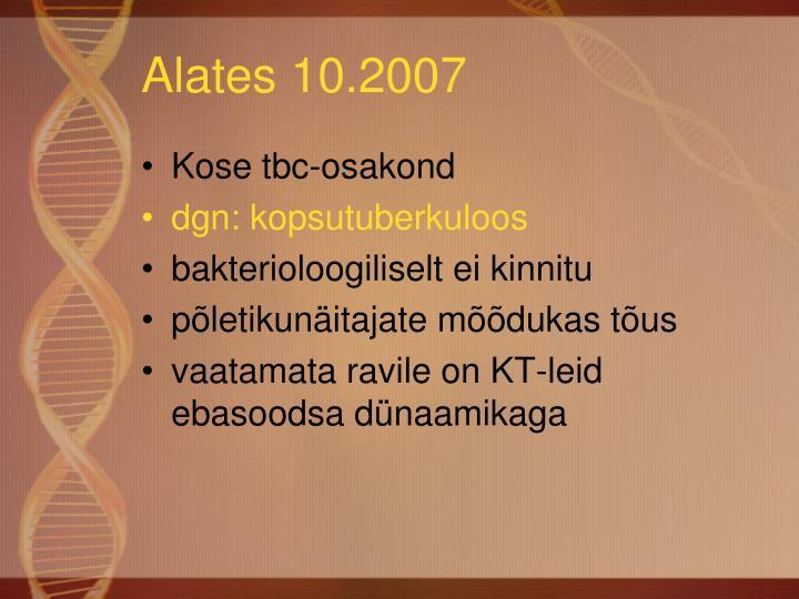 Alates 10.2007