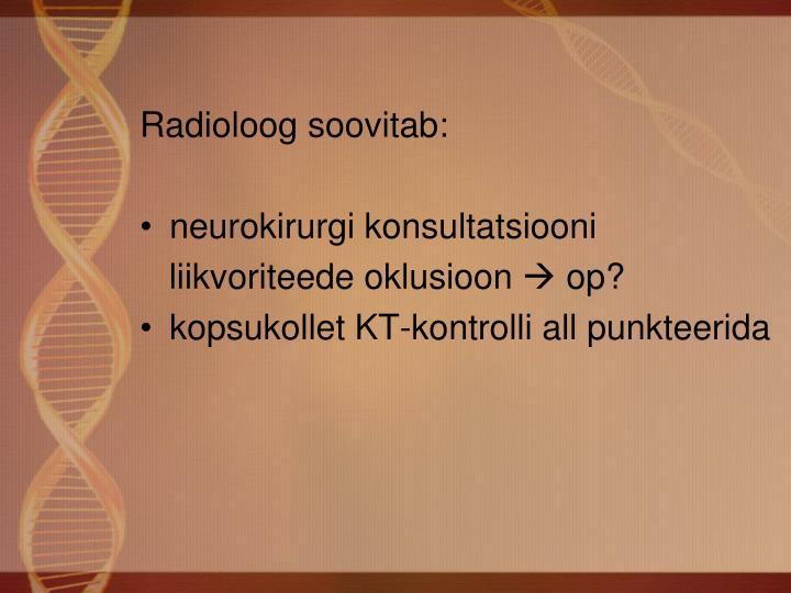 Radioloog soovitab: