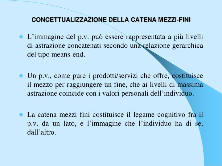 CONCETTUALIZZAZIONE DELLA CATENA MEZZI-FINI