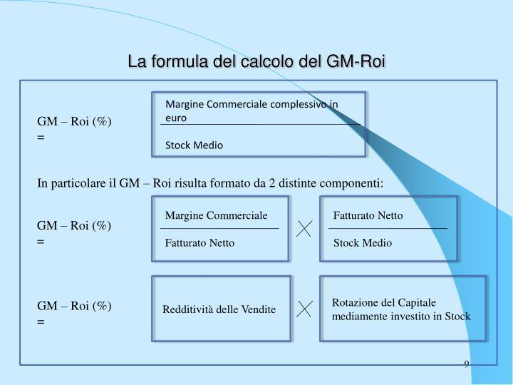 La formula del calcolo del GM-Roi