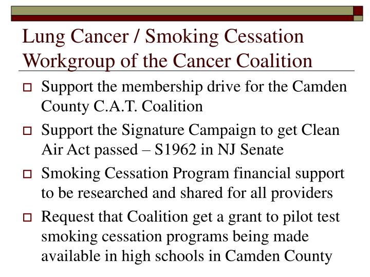 Lung Cancer / Smoking Cessation Workgroup of the Cancer Coalition