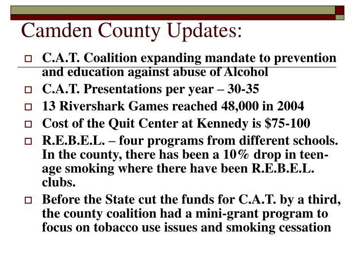 Camden County Updates: