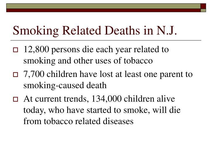 Smoking Related Deaths in N.J.