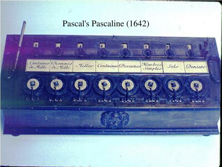 Pascal's Pascaline (1642)