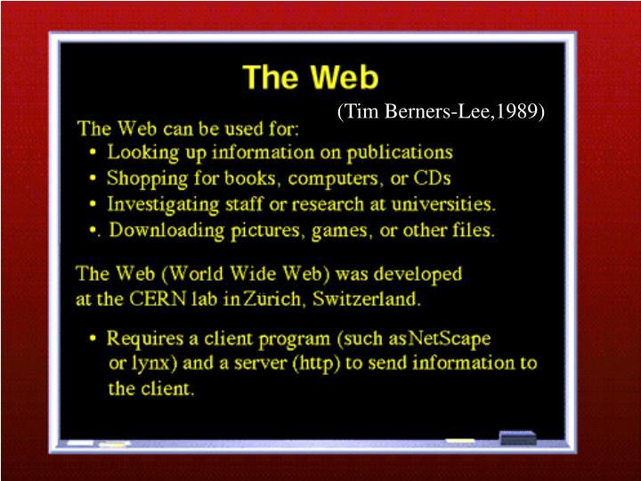 (Tim Berners-Lee,1989)