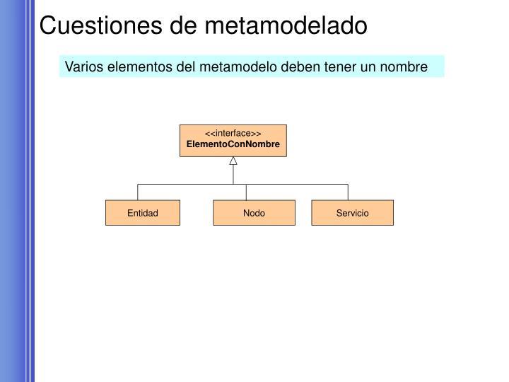 Cuestiones de metamodelado
