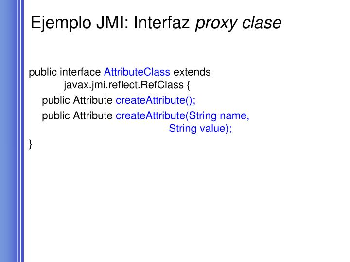 Ejemplo JMI: Interfaz