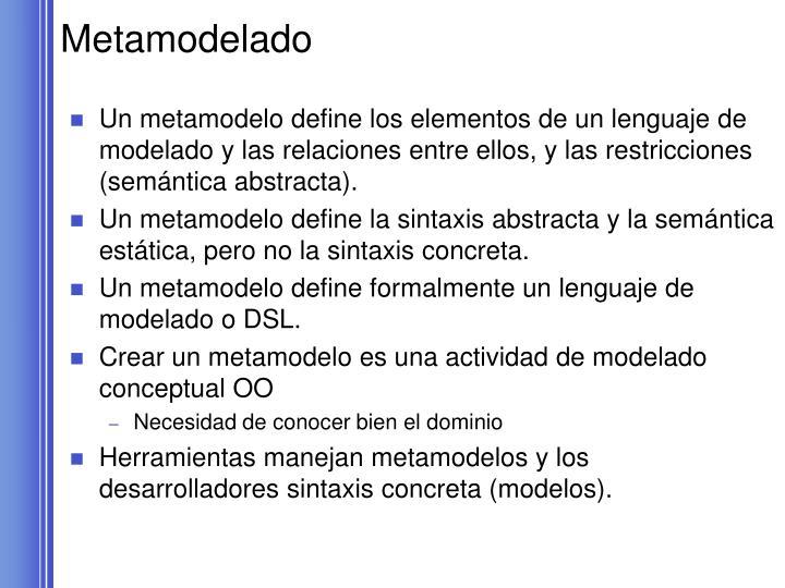 Metamodelado