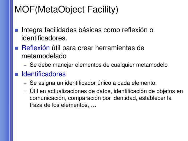 MOF(MetaObject Facility)