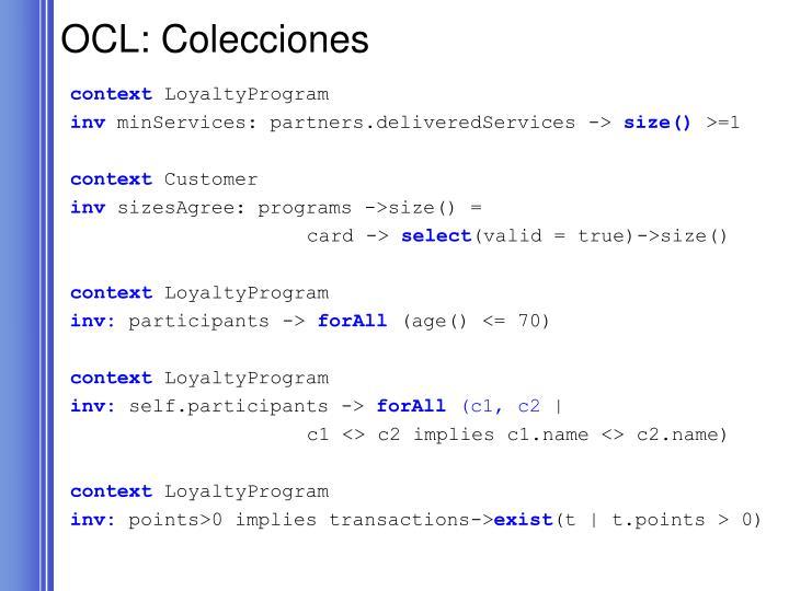 OCL: Colecciones