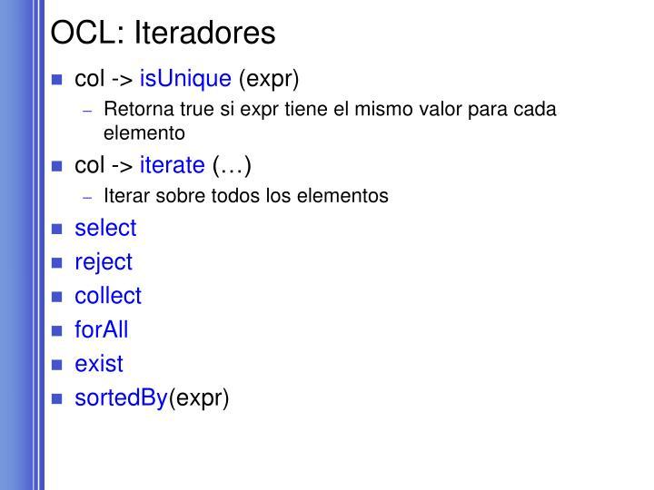 OCL: Iteradores
