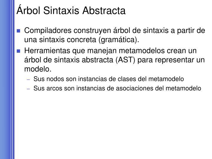 Árbol Sintaxis Abstracta