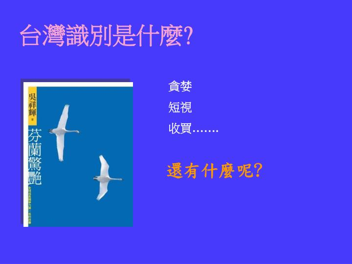 台灣識別是什麼