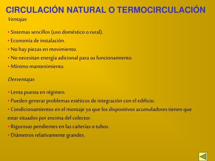 CIRCULACIÓN NATURAL