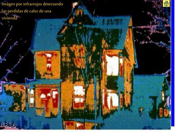 Imagen por infrarrojos detectando las perdidas de calor de una vivienda