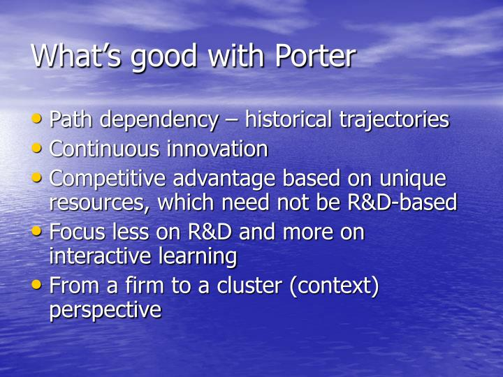 What s good with porter