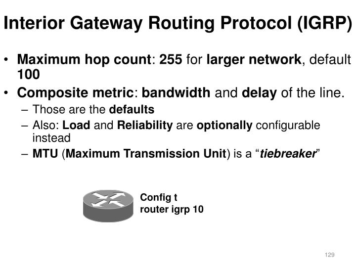 Interior Gateway Routing Protocol (IGRP)