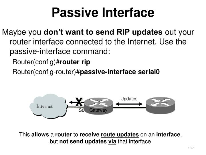 Passive Interface