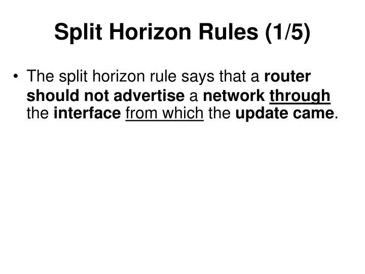 Split Horizon Rules (1/5)