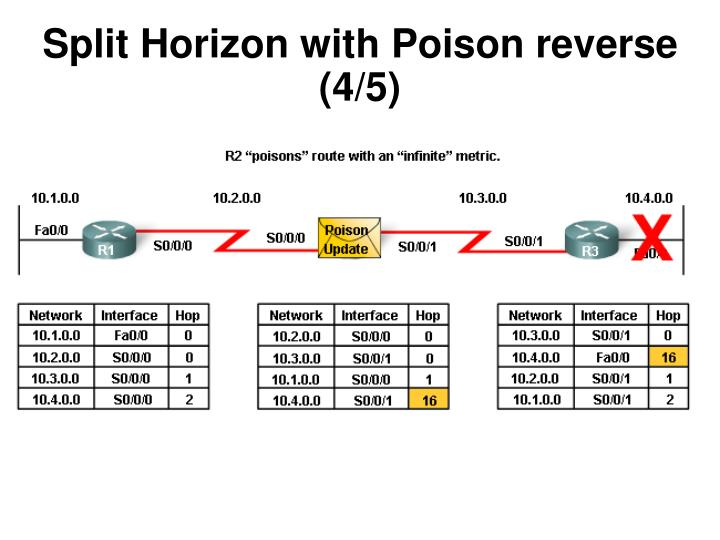 Split Horizon with Poison reverse (4/5)