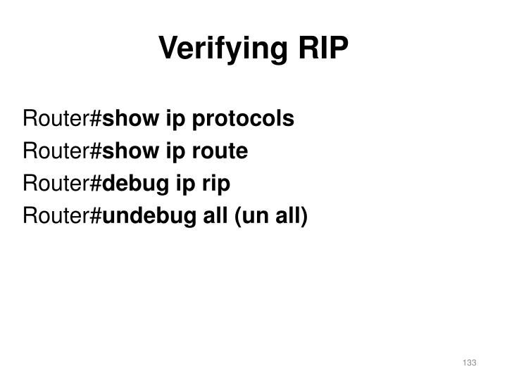 Verifying RIP