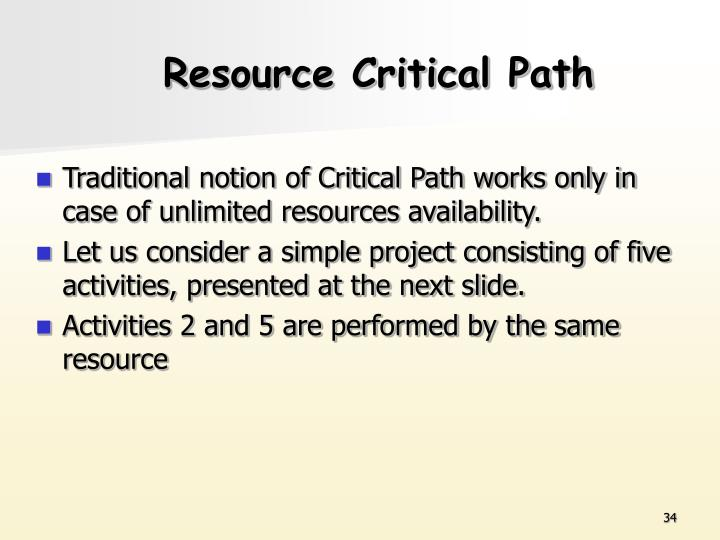 Resource Critical Path