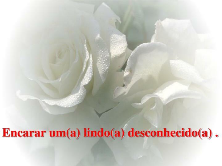 Encarar um(a) lindo(a) desconhecido(a) .