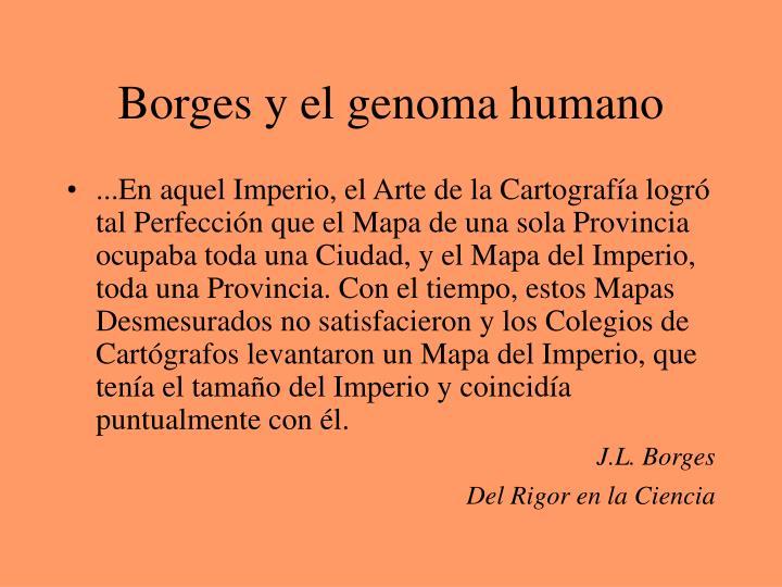 Borges y el genoma humano