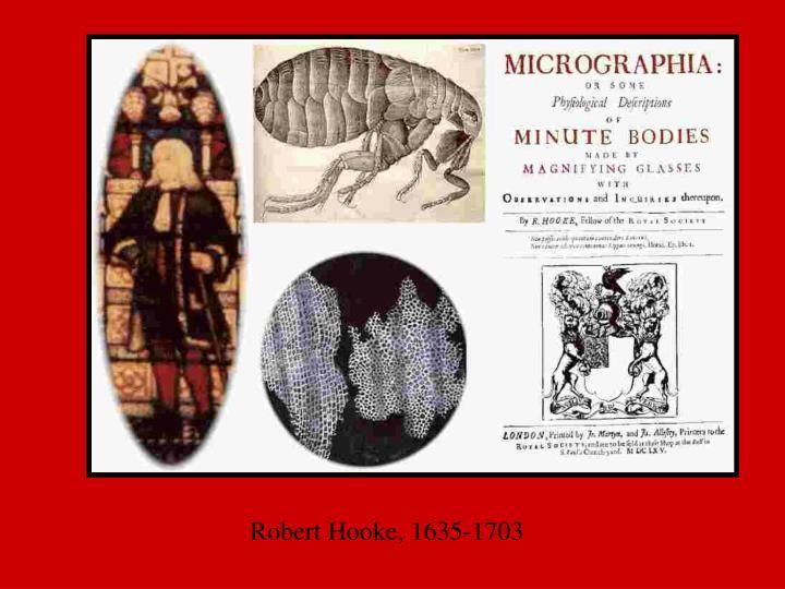 Robert Hooke, 1635-1703