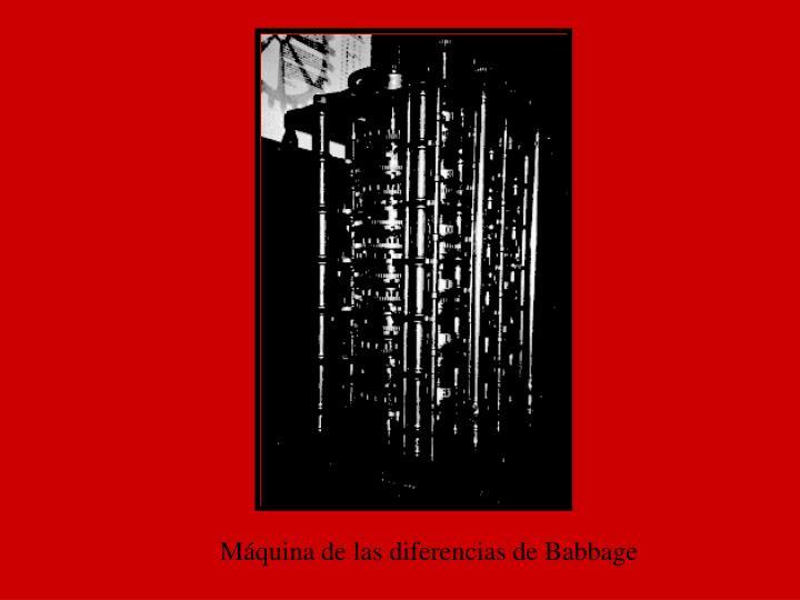 Máquina de las diferencias de Babbage