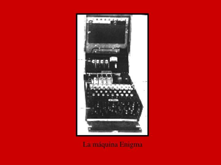 La máquina Enigma