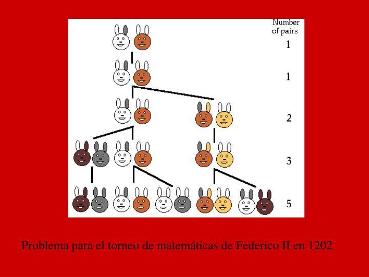 Problema para el torneo de matemáticas de Federico II en 1202