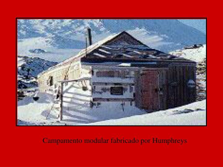 Campamento modular fabricado por Humphreys