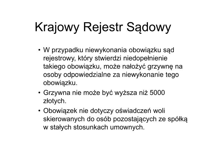 Krajowy Rejestr Sdowy