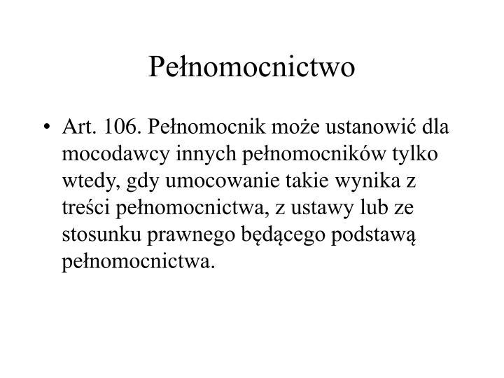 Penomocnictwo
