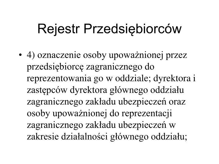 Rejestr Przedsibiorcw