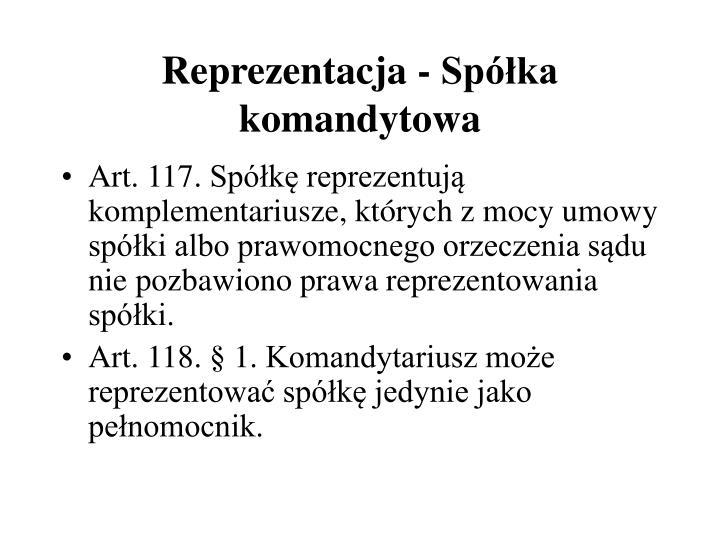 Reprezentacja - Spka komandytowa