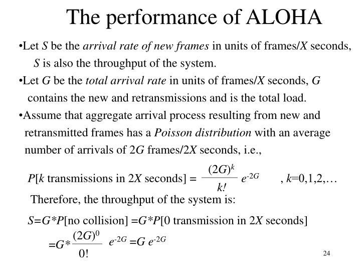The performance of ALOHA