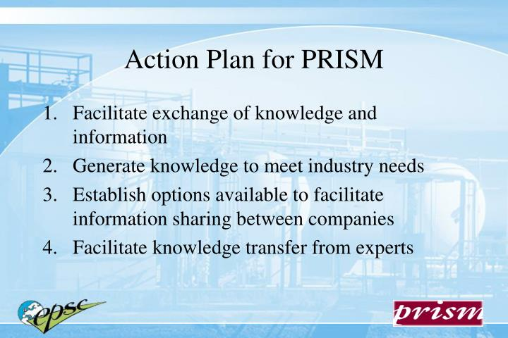 Action Plan for PRISM